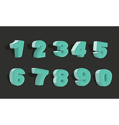 set cartoon numbers 3d vector image