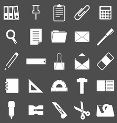 Stationary icons on gray background vector image vector image