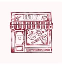 Bread House Facade Composition vector image