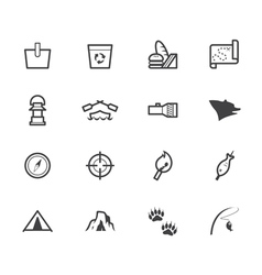 camp black icon set on white background vector image