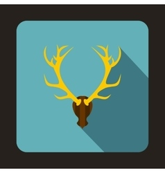 Deer head icon flat style vector image