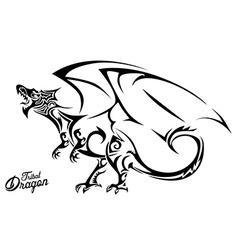 Tribal Dragon vector image vector image