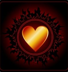 valentines day card dark sun vector image