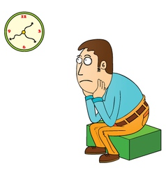 waiting vector image