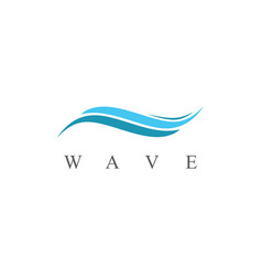 wave abstract logo vector image vector image