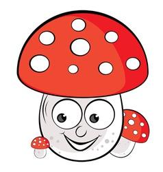 acrylic of toadstool vector image