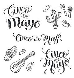 Cinco de mayo phrases vector image vector image