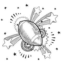 doodle pop football american vector image