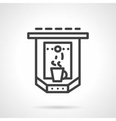Espresso machine simple line icon vector image vector image