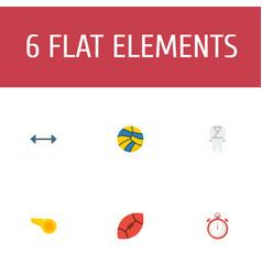 flat icons blower kettlebells american football vector image vector image