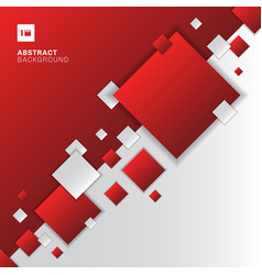 Abstract red and white gradient diagonal separate vector