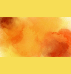 Abstract watercolor yellow orange for background vector