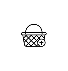 add to basket shopping icon vector image