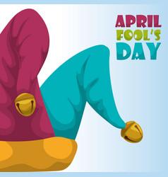 April fools day hat joker concept vector
