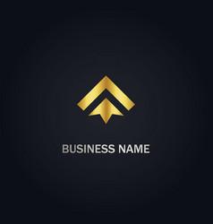 Arrow up business logo vector