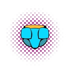 Baby diaper icon comics style vector
