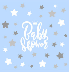 baby shower invitation card template classic vector image