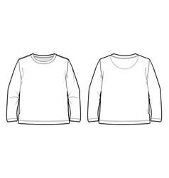 Basic long-sleeved t-shirt vector