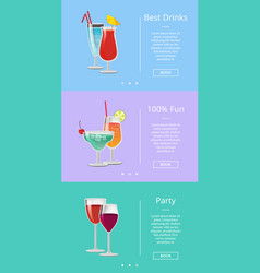 best drink make party 100 fun vector image
