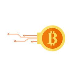Bitcoin digital encryption graphic vector