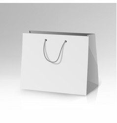 Blank paper bag template 3d realistic vector