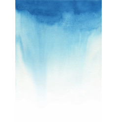 Blue color gradient background watercolor vector
