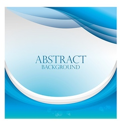 Blue waves abstract background design vector image