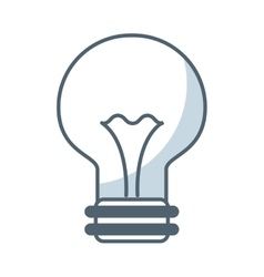 Bulb light flat icon vector