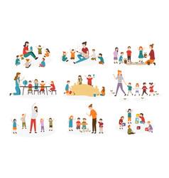 Bundle preschool or kindergarten activities vector