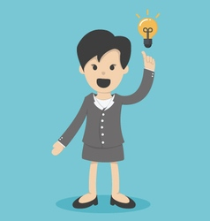 Business woman have idea vector image