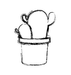 cactus in a pot icon vector image