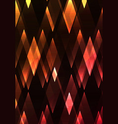 Citrine and ruby fractal crystal shine abstract vector