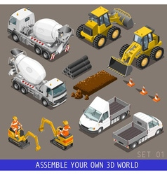 City Construction Transport Isometric Flat 3d Icon vector