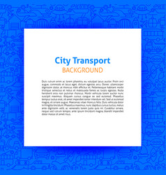 City transport paper template vector