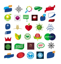 Collection of abstract design icons vector