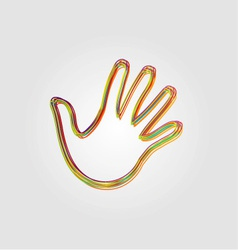 Design element with colorful hands vector image