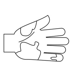 Dirty hand icon outline style vector