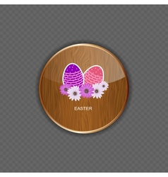 Easter wood application icons vector image