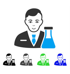 Enjoy chemistry man icon vector