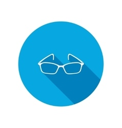 Eye glasses Optical glass appliance for vision vector image