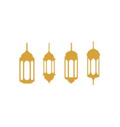 fanoos lantern icon design set bundle template vector image