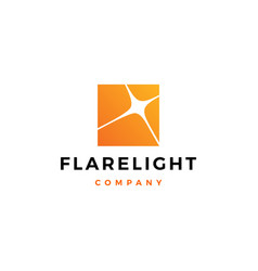 flare light logo icon download vector image