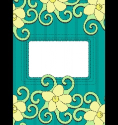 floral frame retro background vector image