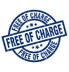 Free of charge blue round grunge stamp vector