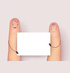 Funny fingers mockup vector