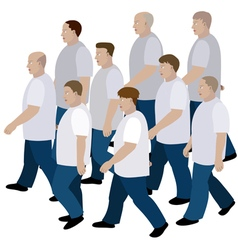 Group of men moving vector image