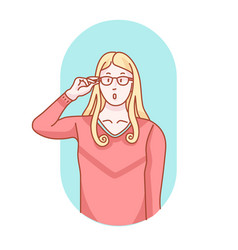 hands and glasses clip art vector image