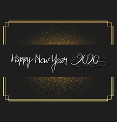 Happy new year 2020 silver number with glitter vector