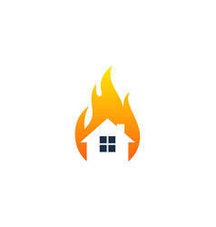 home fire logo icon design vector image