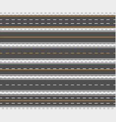 Horizontal asphalt roads vector